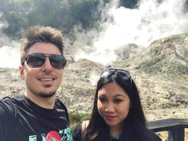 Soufriere Volcano Selfie
