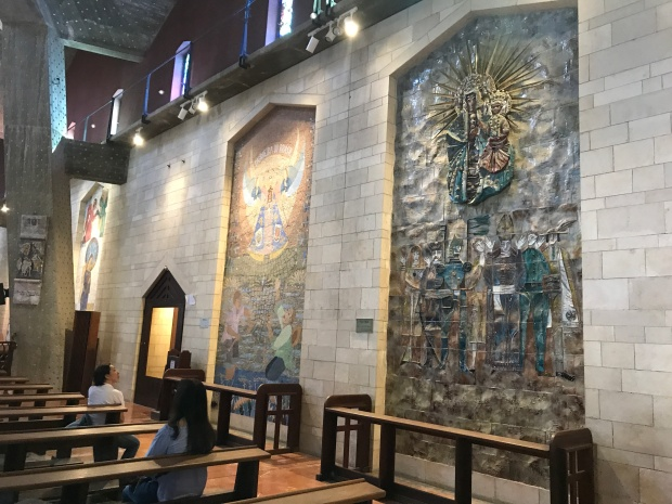 Artwork inside Church of Annunciation in Nazareth