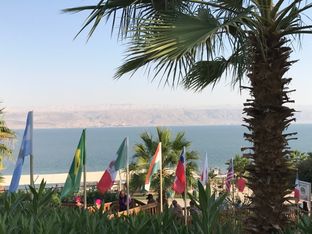 The Dead Sea with Jordan in the background