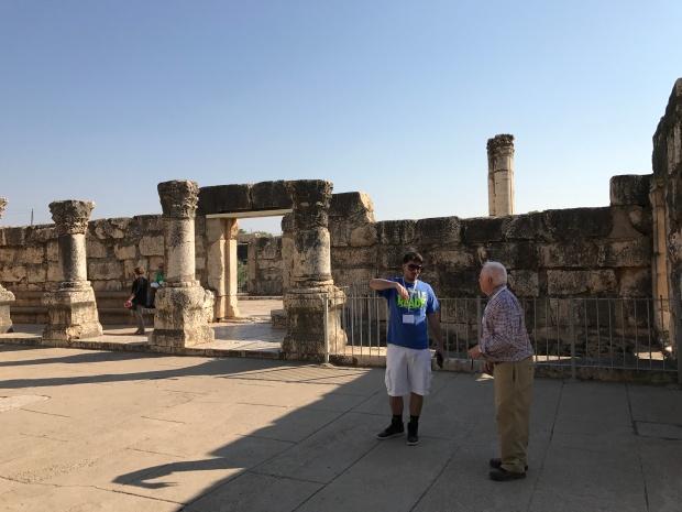 Capernaum Syngagoue in Galilee