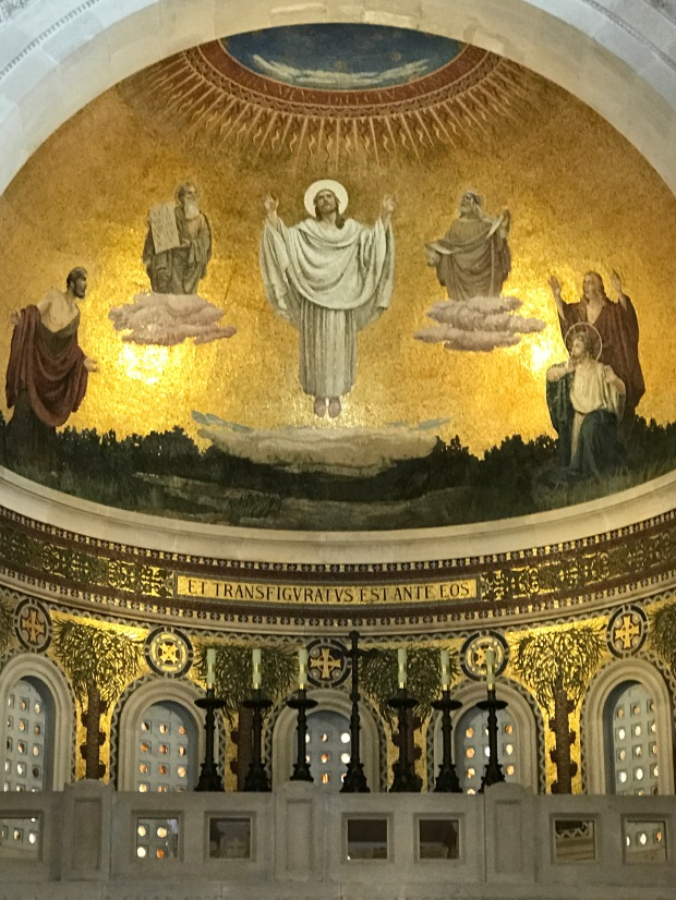 Inside The Church of Transfiguration of Jesus with Moses and Elijah